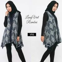 Tenun Long Vest Rumbai Ethnic Cardigan Batik Etnik Cardi Outer Outwear