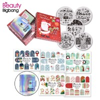 Hrgapromo 11Pcs Set Stamping Plate Nail Art Desain Natal untuk Hadiah