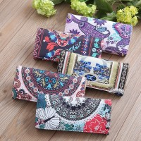 NEW Dompet Panjang Bahan Kulit PU Lembut Motif Bunga untuk Wanita