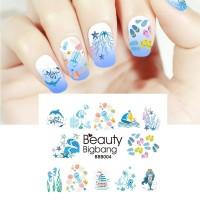NEW BeautyBigBang 5Sheet Transfer Stickers Nail Tip Decal Manicure De