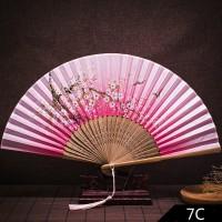 Hrgapromo Kipas Lipat Gaya Cina Klasik Bahan Bambu Sutra Handmade
