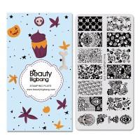 NEW Pelat Stamping Plate Motif Halloween untuk Nail Art