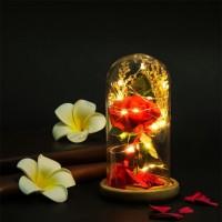 Hrgapromo Lampu LED Bentuk Bunga Mawar Romantis untuk Hadiah Valentin