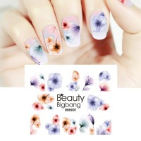 NEW BeautyBigBang 5Sheet Water Nail Stickers Floral Stickers Charm Na
