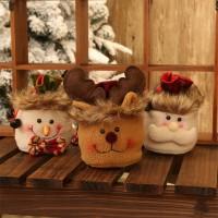 NEW Kantong Permen Desain Santa Claus Snowman Elk untuk Dekorasi Nata