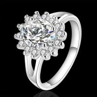termurah Cincin Lapis Emas Putih dengan Kristal Zircon untuk Wanita