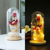 NEW Cover Penutup Gelas Bentuk Bunga Bionik Dengan Lampu LED untuk Ha