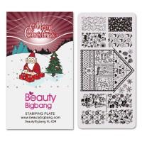 NEW Cetakan Stempel Kuku Desain Natal untuk Nail Art