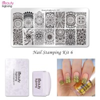 termurah BeautyBigbang 4Pcs Set Nail Stamping Starter Mandala Pattern