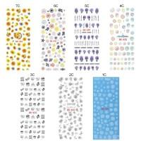 Hrgapromo Stiker Nail Art Manicure DIY Transfer Air Desain Bunga Meka