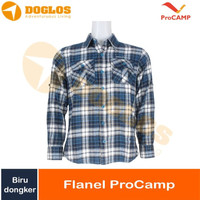Kemeja Flanel ProCAMP navy dongker flannel gunung outdoor travel