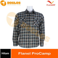 Kemeja Flanel ProCAMP Hitam flannel gunung outdoor hiking travel