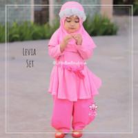 eLBi Levia Set - Setelan Baju Muslim Balita - Baju Pesta Princes 5-6th