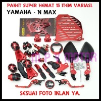 PAKET TERMURAH YAMAHA/NMAX 15 ITEM ACCESORIES MOTOR