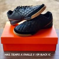 SEPATU FUTSAL NIKE TIEMPO X FINALLE II 10R BLACK IC