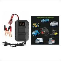 Charger Aki Mobil 12V 20A dengan LCD Indicator & Smart Battery Charger