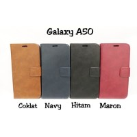 Flip cover Bluemoon Fs Samsung Galaxy A50 Leather cover bahan kulit