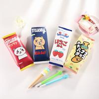 Kotak Pensil Susu Milky Candy Flat Pencil Case / Dompet Pensil Kulit