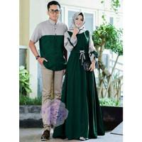 Baju Busana Muslim Gamis Couple Pria Wanita kalank