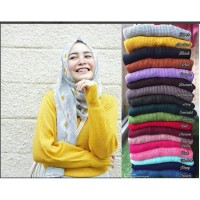 Sweater Baju hangat Rajut Roundhand woll atasan Wanita Hijab.