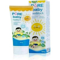 Terhot Pure Baby Sunblock Safe For Baby Spf 25 100 G