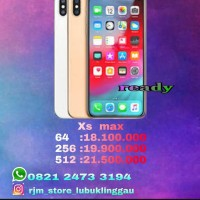 iphone xs max internal 256Gb garansi internasional