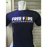 Kaos T-Shirt Free Fire Battle Grounds Cotton Combed 30s