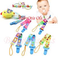 Happy Monkey Tali Kain Dot Empeng Mainan Bayi Baby Pacifier Clip Chain