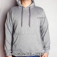 Jaket Jumper Sweater zipper hoodie pria anak wanita Abu muda original