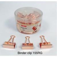 Binder Clip Fancy JOYKO 155RG Warna Rose Gold isi 24 Klip Serbaguna