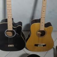 Gitar bass akustik elektrik murah meriah