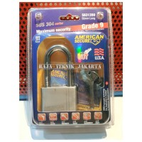 Gembok American Secure 50mm Panjang/ American Secure Padlock 50mm Long