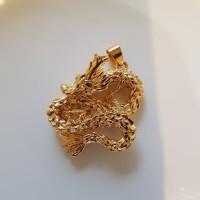liontin naga emas timbul