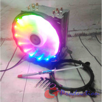 HSF CPU Cooler Lanshuo 4 Heatpipe Colorful LED Fan 12cmHSF CPU Cooler