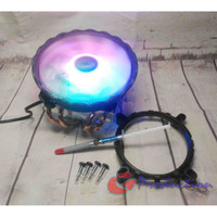 HSF CPU Cooler Lanshuo 4 Heatpipe Down Blow Colorful Fan 12cm