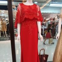 Dress import bahan brokat paris KING
