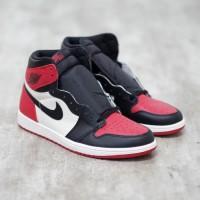 Nike Air Jordan 1 Bred Toe 100% Authentic