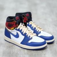 Union LA x Nike Air Jordan 1 High Blue Toe 100% Authentic