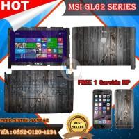 HOT SALE Original Garskin Laptop Full Body MSI GL62 Series Free Custom