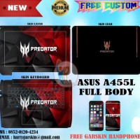 HOT SALE Promo Garskin Laptop Full Body Asus A455L Motif Predator