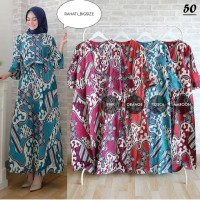Gamis dress batik katun strit melar busui LD 104 CM++ FIT XL