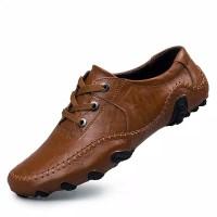Sepatu Loafers Flat Bahan Kulit