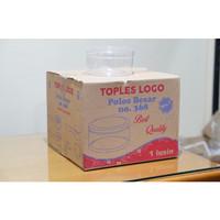 Toples plastik mika 500 gr gram tempat nastar / kue kering