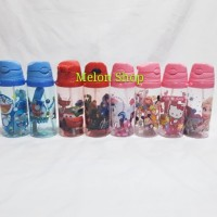Botol Minum Anak Sedotan Slempang Import 500ml Karakter