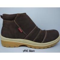 Sepatu Boots casual Kulit Asli Premium Coklat