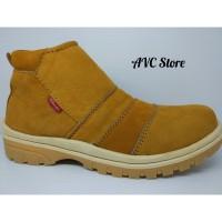 Sepatu Boots Casual Kulit Asli Premium Tan