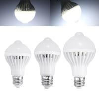 Top Brand E27 5W 7W 9W PIR Infrared Motion Sensor LED Light Lamp Bulb