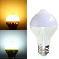 Top Brand E27/B22 7W Light Control PIR Motion Sensor Lamp Bulb Home