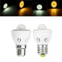 Top Brand E27 B22 3W PIR Infrared Sensor Light Control LED Light Bulb