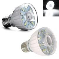 Top Brand E27 3W SMD3528 Pure White Infrared Sensor LED Light Bulb
